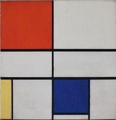Piet Mondrian (after) - Composition C (No. III) with Red, Yellow and Blue