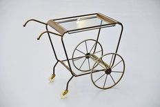 Unknown designer - Tea drinks trolley in the style of Cecare Lacca