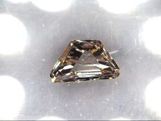 Diamond 0.13ct - Trapeze cut - Light Yellowish brown , Natural Colour NO RESERVE