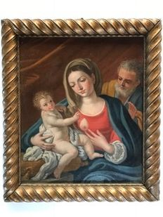 Madonna with Child and St Joseph - first half of the 20th century