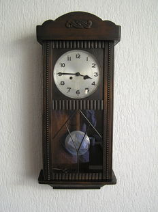 Box regulator clock, first half 20th century