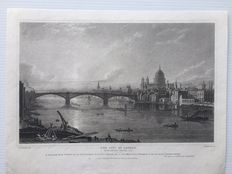 Collection of 20 topographical prints of England - cities - G.F. Robson del. - Publishing House J. Britton, London - 1826, 1827 and 1828
