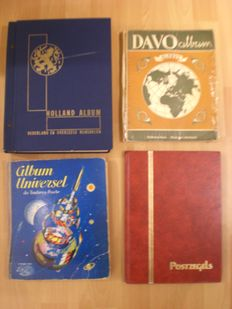 The Netherlands, Overseas and the World - Collections in 3 Albums and in 1 stock book