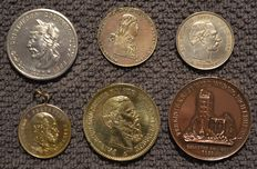 Germany and USA - 6 different medals, 1796/1893