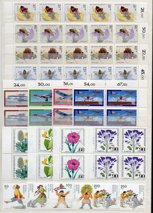 Federal Republic of Germany. Lot of 260 semi-postal complete sets