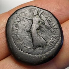 Roman Republic - Civil war  Marc Anton & Octavian (~ 37 b. C.), AE Thessalonica
