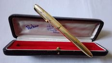 "Beautiful fountain pen signed ""parker"" rolled gold with gold nib 14 kt"