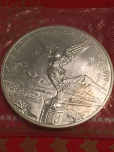 Mexico - 5 oz Libertad 999 silver coin - Year 2009 -  Goddess of Victory