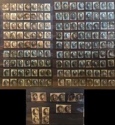 Belgium 1849/1861 – Batch of 147 pieces of King Leopold I – between OBP 3 and 11