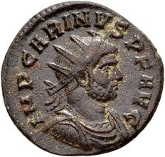 Roman Empire - AE Antoninianus by Emperor Carinus (283-285 A.D.), minted in Ticinum