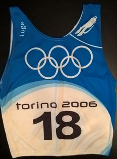Olympic Games Torino 2006 - Training number vest for the luge competition