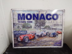 Monaco Mai 1956 large steel sign