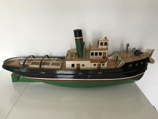 Very large model tug boat all wooden