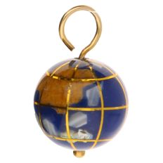 Yellow gold pendant in the shape of the earth.