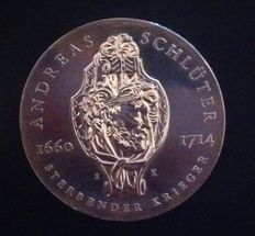 GDR - 20 Mark 1990 A 275th Anniversary of the death of Andreas Schlüter - silver