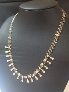 Antique, gold, 14 kt droplet necklace from the 1950s/1960s.