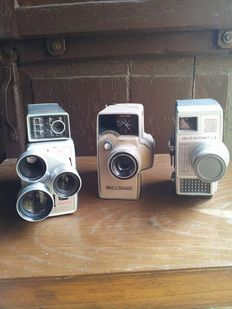 A set of 3 film cameras from the 1950s/60s