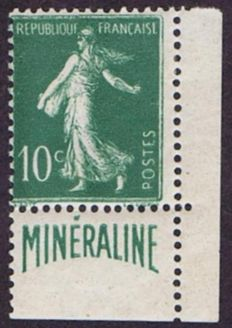 France 1924-26 – Minéraline – signed and with Calves certificate – Yvert n°188A