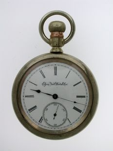 Elgin National Watch Company  Steel Pocket Watch USA 1920