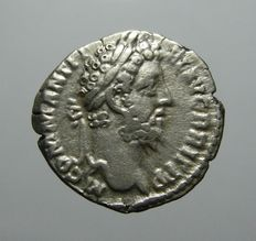 Roman Empire - Commodus AR Denarius, Minerva, 188-189 AD, RIC 189 (Scarce)