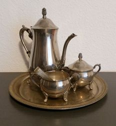 5-piece silver-plated coffee service