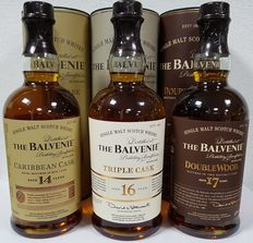 3 bottles - The Balvenie Collection 14years | 16 years | 17 years - 70cl