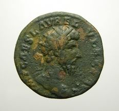 Roman Empire - Scarce Lucius Verus Dupondius (8.45 g - 24 mm), Fortuna,  162-163 AD