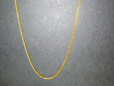 18 kt solid gold necklace.