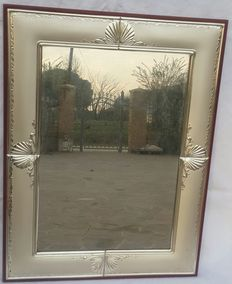 Beautiful mirror with frame in finely wrought silver1000 - Italy, 20th century