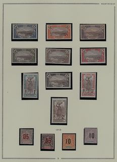 French ex-colonies, Martinique 1908/1947 - Complete collections before independence Current position, Aviation, Taxes, BF
