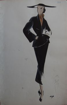 Pierre Cardin (attributed to) - Tailleur so chic avec foulard assorti