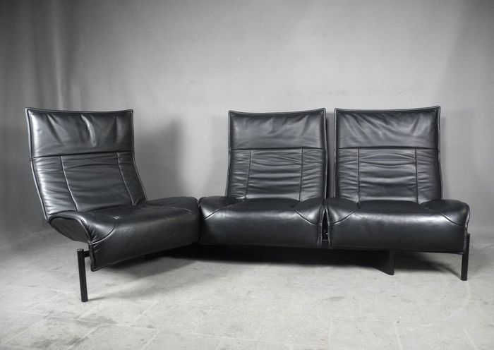 Vico Magistretti For Cassina U2013 Vintage Leather Veranda 3 Sofa