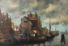Unknown (20th century) - View on Delfshaven