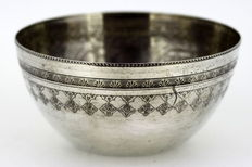 Silver bowl, Egypt, early 20th century