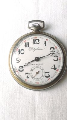 Antique French pocket regulator watch 1920s/1930s.