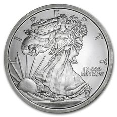 """United States - Medal """"Golden State Mint / Walking Lady Liberty and Silver Eagle - 5 oz 999 Silver"""""""