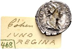 Roman Empire - silver denarius of Empress Lucilla, wife of Lucius Verus 161-169 AD, minted in Rome / ex collection Lückger 1864-1951.