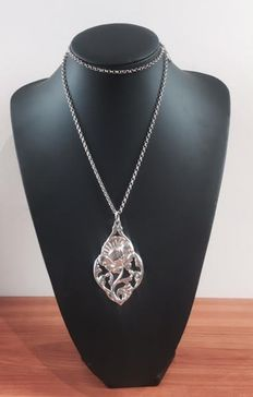 Silver Figaro necklace - 925 kt
