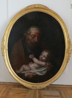 Unknown (17th/18th century)-Josef? with child