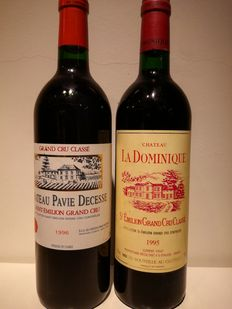 1996 Chateau Pavie Decesse & 1995 Chateau La Dominique - Saint-Emilion Grand Cru Classé - 2 bottles