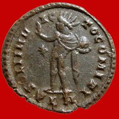 Roman Empire - Constantine I the Great (307-337 A.D.) bronze follis (3,21 g., 21 mm) Londinum mint. SOLI INVICTO COMITI.*/PLN