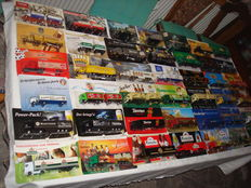 Collection - brewery trucks, in original packaging, some are Classic Cars and rare, 78 parts