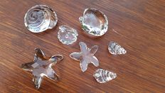 Swarovski - shells set (3) - Neptune snail - Starfish - St James shell - Horn shell