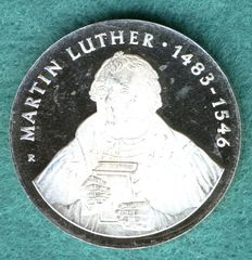 GDR - 20 Mark 1983 500. Birthday of Martin Luther - silver