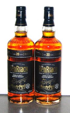 2 bottles - Benriach 20 years old - Speyside - 43% - 70cl.