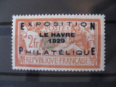 France 1929 - Havre exposition signed Brun - Yvert no. 257A