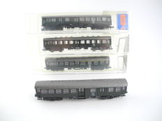 Roco N - 2255/2253/2254 - 4-piece passenger cars (coaches) of the DB, middle boarding coaches [253]