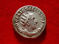 Roman Empire - Gallienus (253-268) silver antoninianus (3,27 g. 21 mm.), Rome mint, 254 A.D. VIRTVS AVGG.