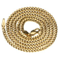14 kt yellow gold curb link necklace - 43 cm