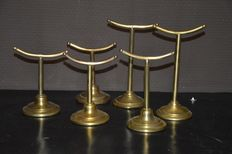 Six copper shoe stands-France-1st half 20th century